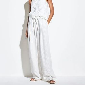 VINCE. PENCIL STRIPE PULL ON LINEN PANT NWT ✨